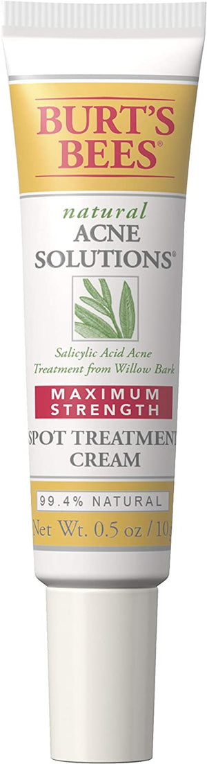 Burt's Bees Natural Acne Solutions Maximum Strength Spot Treatment Cream for Oily Skin, 0.5 Oz
