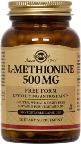 L-Methionine 500 mg Vegetable Capsules