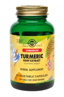 Standardized Turmeric Root Extract Vegetable Capsules