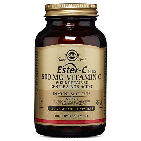 Ester-C Plus Vitamin C (Ester-C Ascorbate Complex) 500 mg, 100 Vegetable Capsules