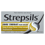 Strepsils Sore Throat Pain Relief Honey & Lemon Flavour 2.4mg Lozenges
