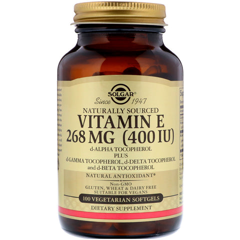 Vitamin E 400 268 MG IU Vegetarian Softgels