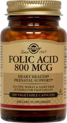 Folic Acid 800 mcg Vegetable Capsules