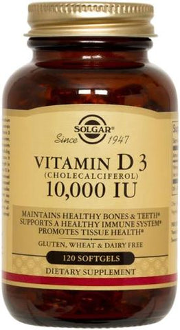 Vitamin D3 (Cholecalciferol) 10,000 IU Softgels