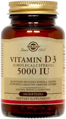 Vitamin D3 (Cholecalciferol) 5000 IU Softgels