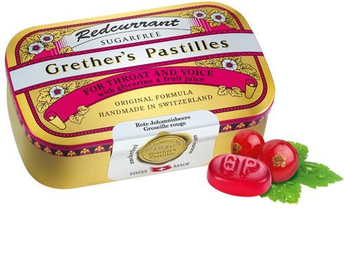 Grether's Pastilles Redcurrant Sugarfree (Select a Size)