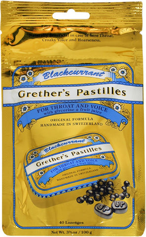 Grether's Pastilles Blackcurrant Pastilles Sugar-Free Bag