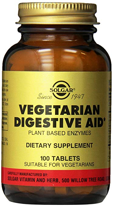 Vegetarian Digestive Aid Chewable Tablets, 100 Count