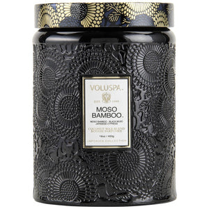 Voluspa Large Glass Jar Candle Moso Bamboo 16 oz