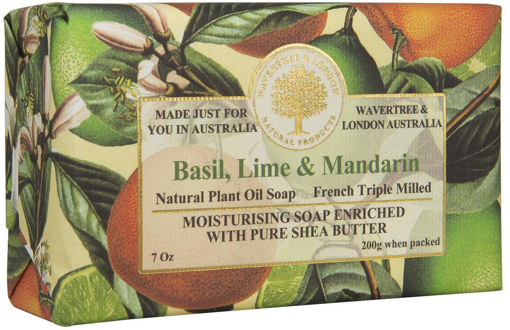 Wavertree & London Basil, Lime & Mandarin soap bar 8 oz