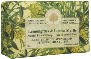 Wavertree & London Lemongrass & Lemon Myrtle soap bar 8 Oz