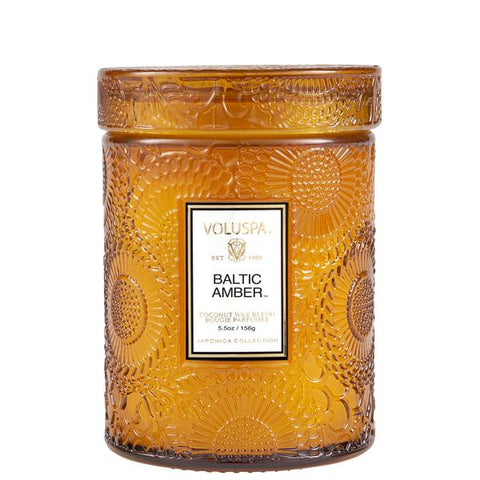Voluspa BALTIC AMBER SMALL JAR CANDLE 5.5 oz.