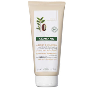 Klorane Conditioner with Organic Cupuaçu Butter, Nourishing & Repairing for Very Dry Damaged Hair, SLS/SLES-Free, Biodegradable, 6.7 fl. oz