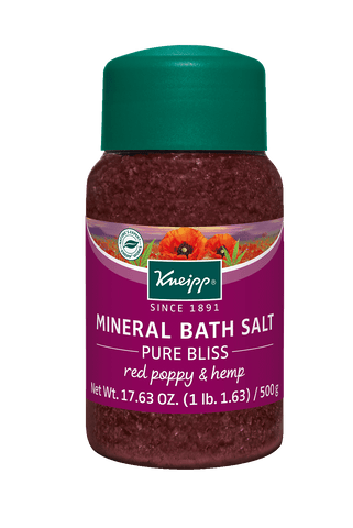 Red Poppy & Hemp Mineral Bath Salt - Pure Bliss