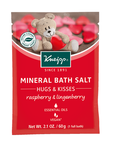 "Mini Raspberry & Lingonberry Mineral Bath Salt - ""Hugs & Kisses"""