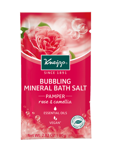 "Mini Rose & Camellia Bubbling Mineral Bath Salt - ""Pamper"""