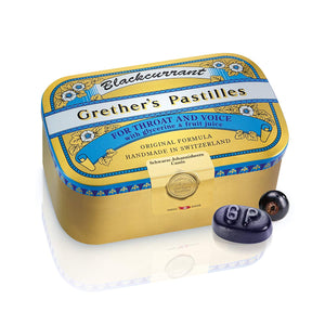 Grether's Pastilles Blackcurrant Pastilles Sugar Free (Select a Size)