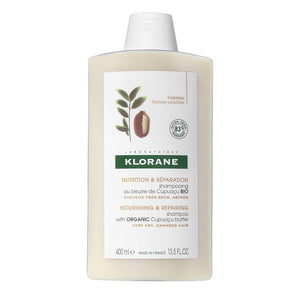 Klorane Shampoo with Organic Cupuaçu Butter, Nourishing & Repairing for Very Dry Damaged Hair, SLS/SLES-Free, Biodegradable, 13.5 fl. oz.