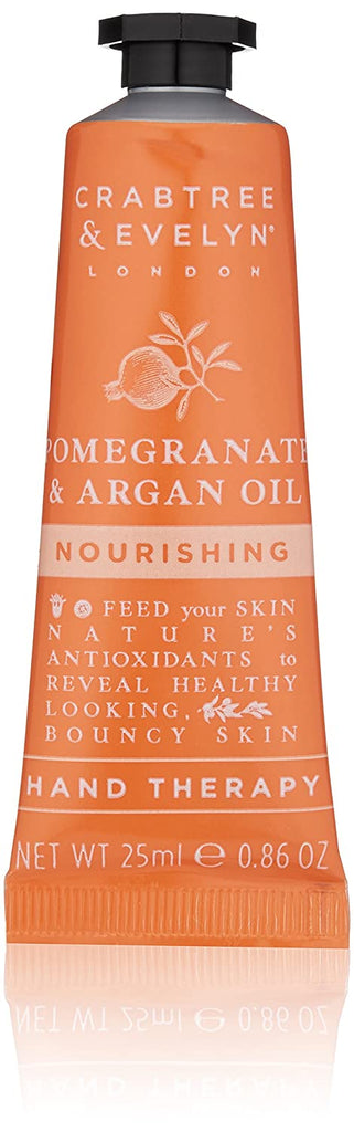 Crabtree & Evelyn Nourishing Hand Cream Therapy, Pomegranate and Argan Oil, 0.86 oz