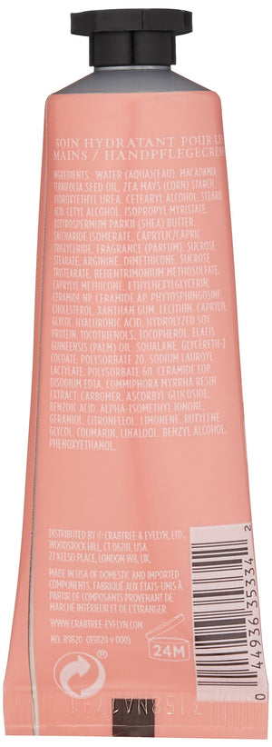Crabtree & Evelyn Rosewater & Pink Peppercorn Hydrating Hand Therapy, 0.86 oz