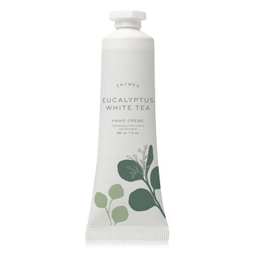 Thymes EUCALYPTUS WHITE TEA PETITE HAND CREME 1.0 FL OZ / 30 ML