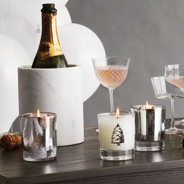 Thymes FRASIER FIR STATEMENT SILVER CANDLE