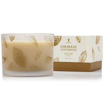 Thymes GOLDLEAF 3-WICK CANDLE