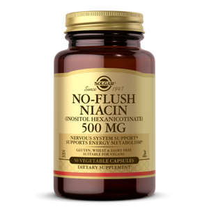 Solgar NO-FLUSH NIACIN 500 MG VEGETABLE CAPSULES (VITAMIN B3) (INOSITOL HEXANICOTINATE)