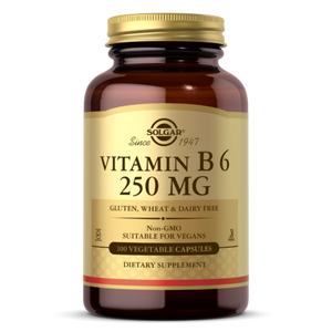 SOLGAR VITAMIN B6 250 MG VEGETABLE CAPSULES