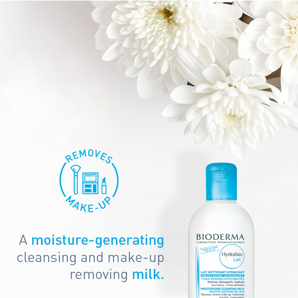 Bioderma Hydrabio Moisturizing Facial Cleansing Milk and Makeup Remover for Dehydrated Skin - 8.33 fl. oz.