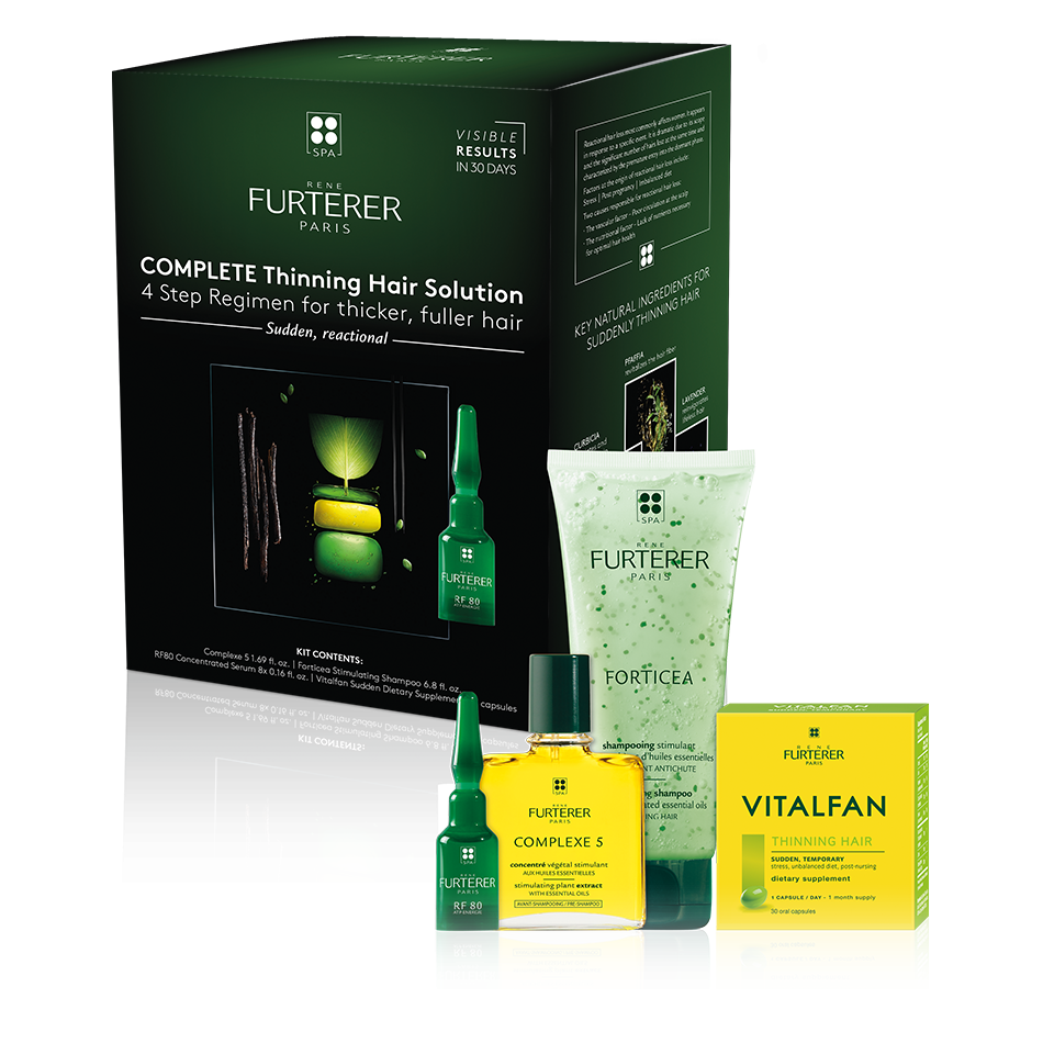 René Furterer COMPLETE THINNING HAIR SOLUTION 4-STEP KIT For Sudden, Temporary Thinning Hair