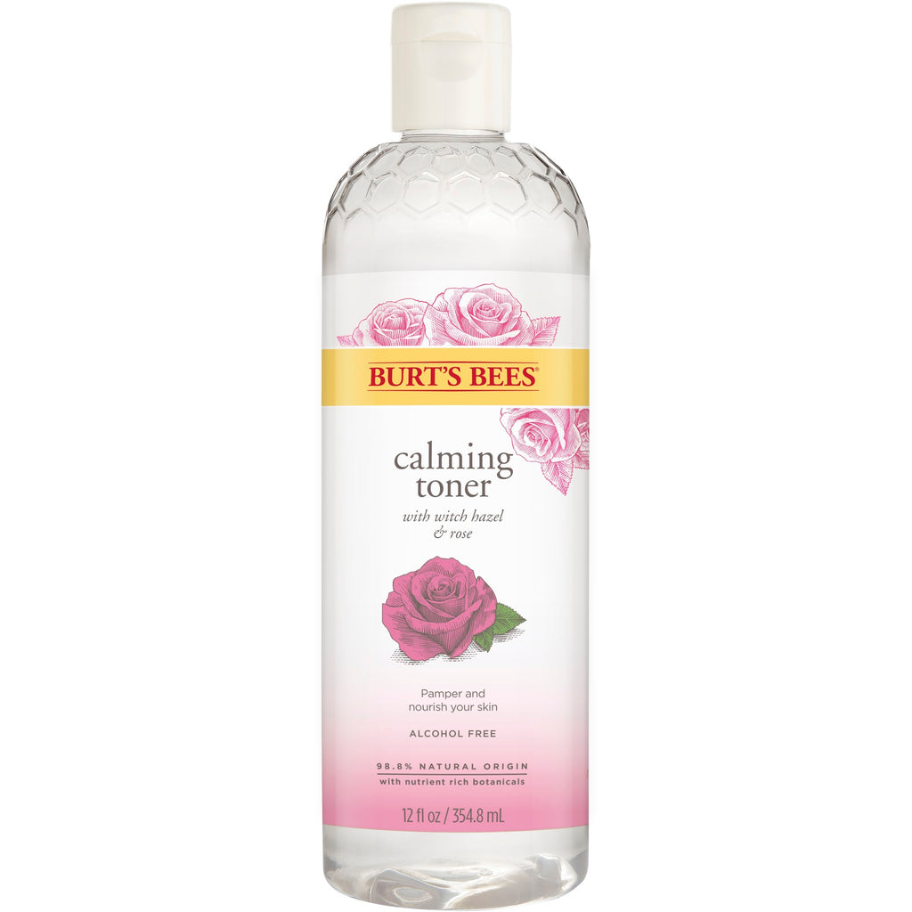 Burt's Bees Calming Toner With Witch Hazel And Rose 12 oz.
