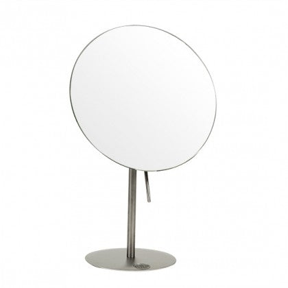 Frasco 7 inch Rimless Stainless Steel Vanity Stand Mirror (7X)