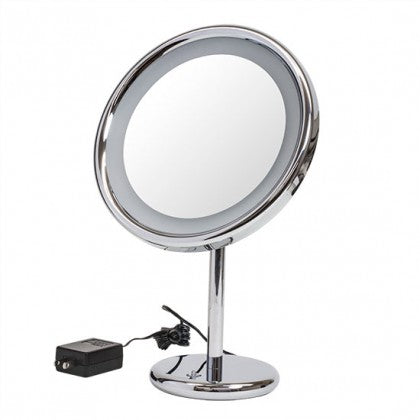 Frasco 9 inch Chrome Stand LED Mirror (3X)
