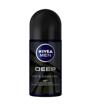 Nivea Deep Black Carbon Dark Wood Deodorant Roll-On 50ml