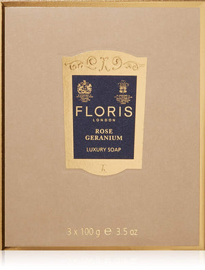 Floris London Rose Geranium Luxury Soap 3-Pack