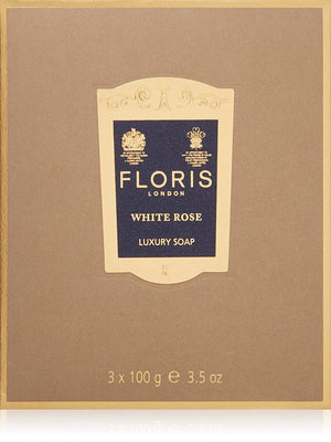 Floris London White Rose Luxury Soap 3-Pack