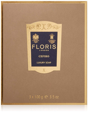 Floris London Cefiro Luxury Soap 3-Pack