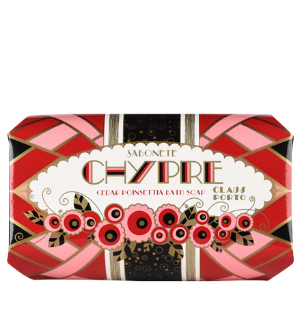 Claus Porto - Chypre - Cedar Poinsettia Large Soap - 12.4 oz