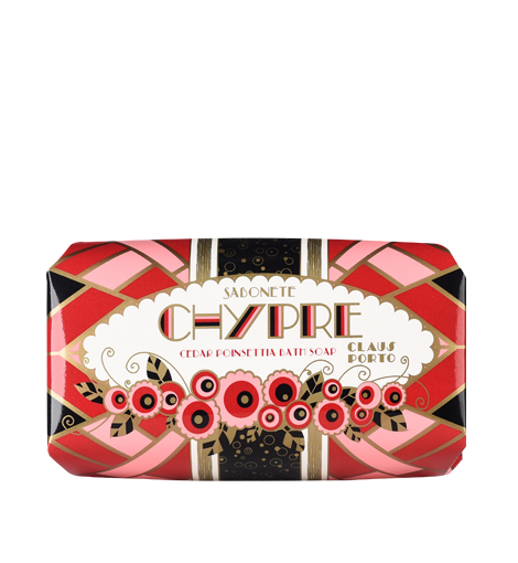 Claus Porto - Chypre - Cedar Poinsettia Soap - 5,3 oz.