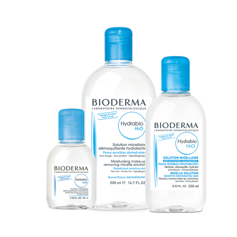 Bioderma Hydrabio H2O Micellar Water, Cleansing and Make-Up Removing Solution.