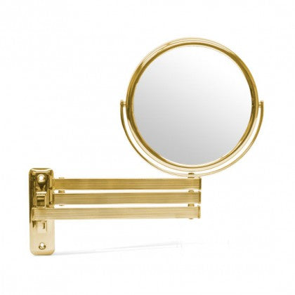 Frasco 6 1/2 inch Polished Brass Wall Mount Mirror (5X)