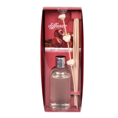 Decorative Apple Cinnamon Oil Diffuser with Reeds - 7 ounces - Jodhshop