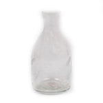 Small Clear Vase with Etched Leaf Design - 3 x 3 x 6 inches - Jodhshop