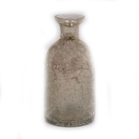 Smoked Crackle Apothecary Vase - 2.75 x 2.75 x 6 inches - Jodhshop