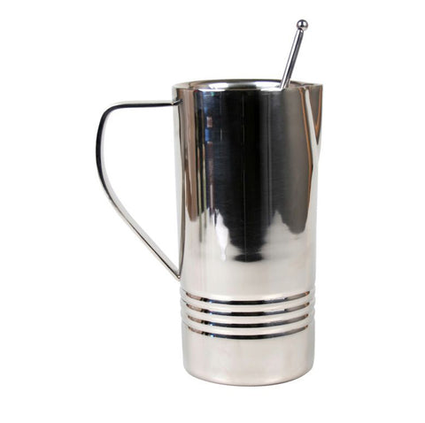Stainless Pitcher with Stirrer - 48 oz - Jodhshop
