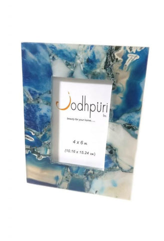 Blue Agate Picture Frame - 4 x 6 inches - Jodhshop