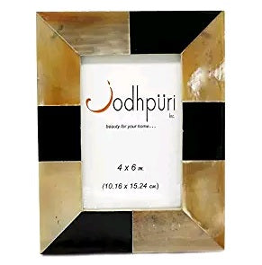 Brown Patch Horn Picture Frame - 4 x 6 inches - Jodhshop