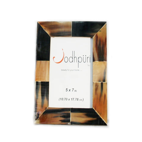 Horn Picture Frame with Grey Patch - 4 x 6 inches - Jodhshop