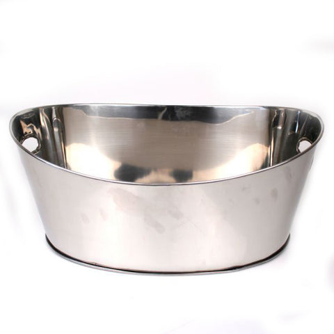 Stainless Steel Party Tub - 20 x 4.25 x 8.5 inches - Jodhshop